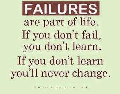learn from failures as well as ((( get the inspiring book on famous failures))) inspiring video on.