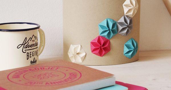diy vid o ma boite mouchoir en kraft et origami origami vid os et bricolage. Black Bedroom Furniture Sets. Home Design Ideas