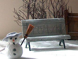 garden bench 1/12 tutorial | Banc jardin, Jardins miniatures ...