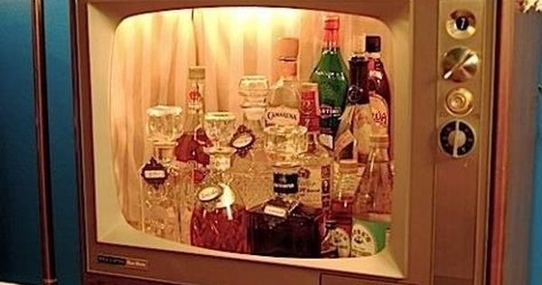 Vintage television= Mad Men drink cabinet. Lots of potential here.