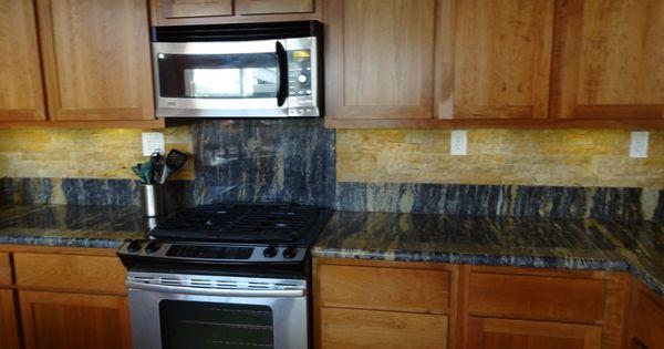 Unique granite grain counter with back splash. Kitchen countertop ...