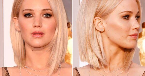 Jennifer Lawrence Academy Awards Hair Blonde Sleek