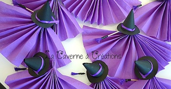 sorciere pliage serviette pliage serviette pinterest napkins halloween. Black Bedroom Furniture Sets. Home Design Ideas