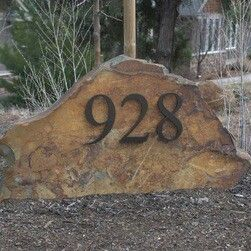 Address On Rock And Could Use Led Solar Lamps To Light It Up At