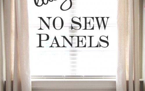 DIY Easy No Sew Drop Clothe Window Panels and DIY curtain rod!