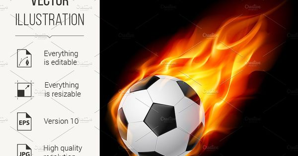 Cool Flame Soccer Images