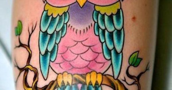 Owl tattoo ink