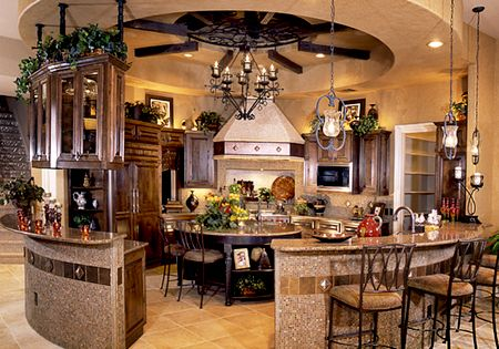 Round kitchen. Wow. I so want this when I build my dream