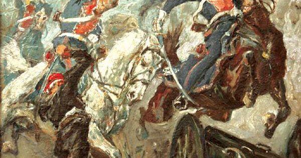 Kaczor Stanislaw Batowski Somosierra 1808 War Art Painting Art