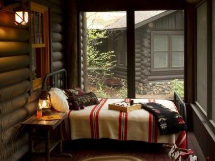 rustic exterior bedroom logcabin