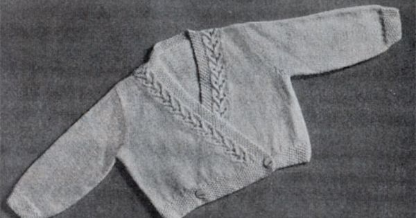 Amazing Knitting Patterns : Free Knitting Pattern: Charmer Baby Cardigan from Patons Knitting Book No. R2...
