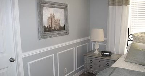 Love the nightstand ideas for the house pinterest for Bedroom with wainscoting ideas