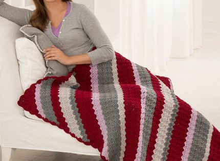 Classic Corner-to-Corner Throw Free Crochet Pattern in Red ...
