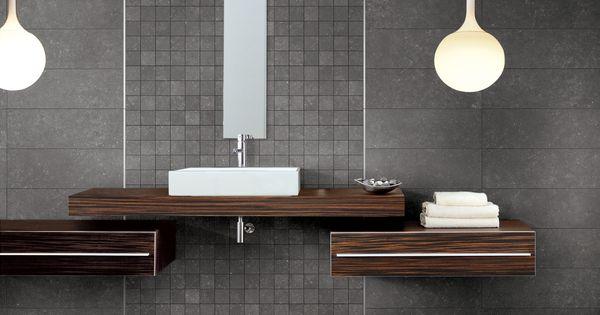 Voor in de badkamer bestaat er ook een zeer stijlvol decor binnen dit gamma blauwe steen - Binnen deco ...