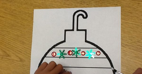 Christmas Ornament Patterning w/ sequins