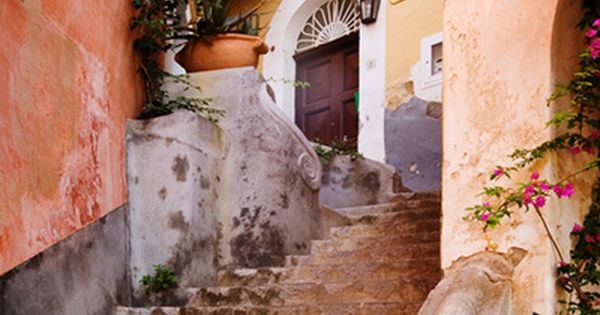 Ancient Stairs ~ Positano, Italy. Such beautiful and rich colors.
