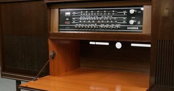 Retro 1960s Grundig Stereo Console Furnish Me Vintage