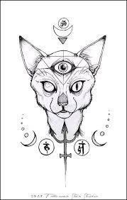 Three Eyed Cat Creepy Zeichnungen Fantasiezeichnungen Katze Zeichnen
