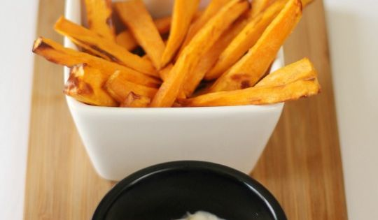 Perfect crispy sweet potato fries with the philips for Beer battered fish airfryer