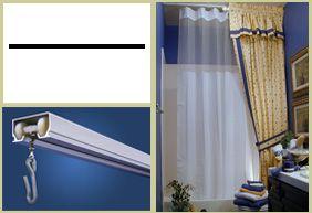Straight Shower Rod Shower Curtain Track White Beadboard
