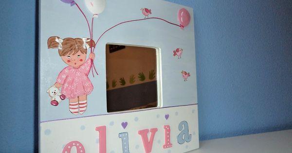 Cuadro olivia pintado a mano cuadros y espejos infantiles by manora pinterest olivia d 39 abo - Marcos para cuadros ikea ...