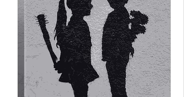Street Art: Boy Meets Girl i know its a painting but would