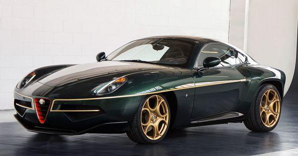Touring S Breathtaking Alfa Disco Volante Wears Green And Gold For Geneva Plus Top Gear Video Carscoops Alfa Romeo Classic Cars Alfa Romeo Cars