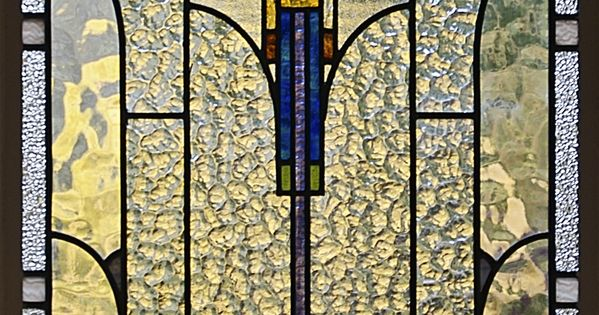 Art Deco Stained Glass in a Melbourne House... Stain glass of Jesus