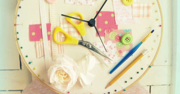 Cute Room Crafts: Clock Hoop For Craft Room