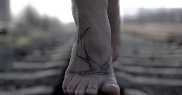 Sparrow tattoo - bird tattoo - foot placement