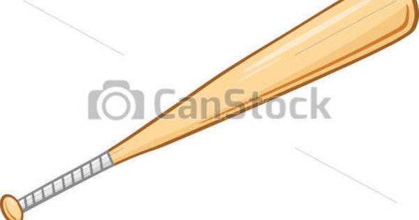 Vector Illustration Of Wooden Baseball Bat Illustration Isolated On White Csp19830127 Search Clipart Illustration Baseball Bat Drawing Baseball Baseball Bat