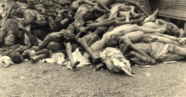 Pile Of Bodies : Dachau germany april a pile of bodies genocide