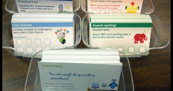 Love this idea of using Vista Print business cards as classroom rewards/punch