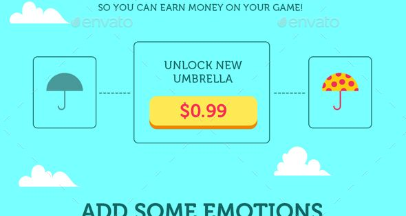 Full Game Kit Tiny Umbrella Mobile Arcade Game Assets – Game Kits Game Assets