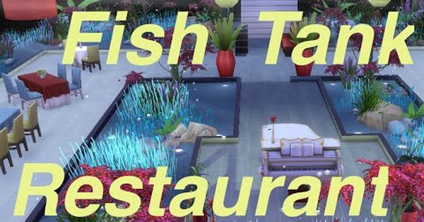 The sims 4 speed build fish tank restaurant thesims4 for Sims 4 fishing