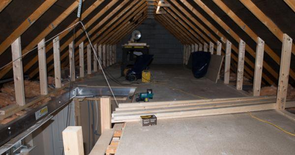 Trusses Removed Structure In And Floor Down Attic Rooms Attic Remodel Attic Design