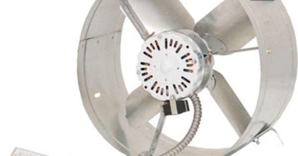 Cool Attic Gable Mount Attic Exhaust Ventilator Fan 1600 Cfm