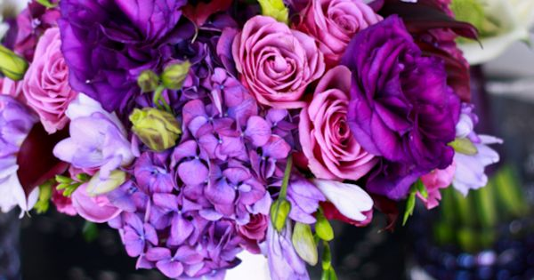 Purple Wedding Bouquet -love the variety of flowers in this bouquet! nice options beautiful color