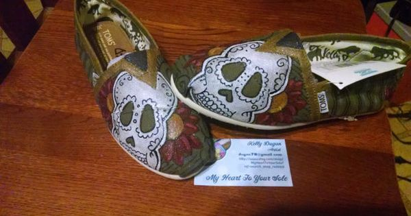 Price includes shoes. Sugar Skull hand painted TOMS | Toms ...