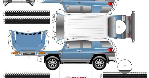 Toyota Fj Cruiser トヨタ Fj クルーザー Fjクルーザー ペーパークラフト