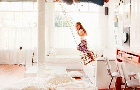 Indoor swing as long as it's in a playroom! Cute idea:)