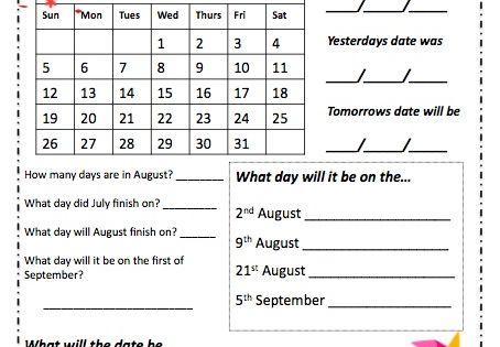 Calendar Activities Year 2 : Calendar activities year google search