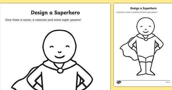 Design a Superhero Worksheets design desing a superhero – Superhero Worksheets