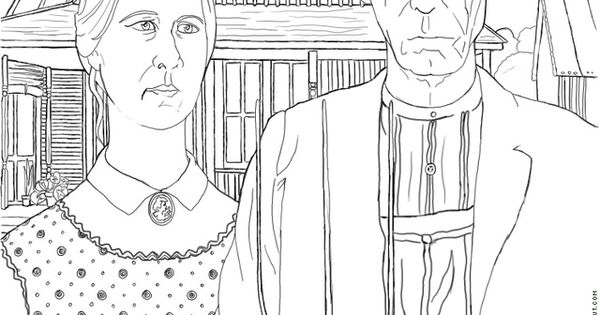 Line Art History : Free art history coloring pages a line and