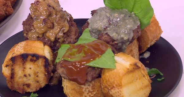 Cbc Sofra طريقة تحضير ميني برجر نورا السادات Recipe Recipes Food Appetizers