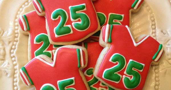 Santa Jersey Cookies   Confections of a Cookie Addict   Pinterest ...