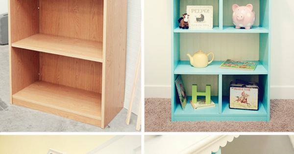 Upcycled Dollhouse Bookshelf diy make