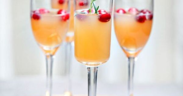 Champagne, Pears and Cranberries on Pinterest