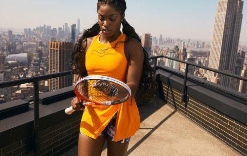 Sloane Stephens Shows Orange Nike Dress Ready For Us Open Title Defense Women S Tennis Blog Nike Dresses Sloane Stephens Womens Tennis