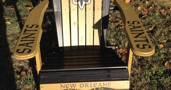 Hand Painted New Orleans Saints Folding Adirondack Chair